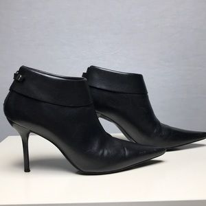 BCBGirls Leather Black Ankle Booties